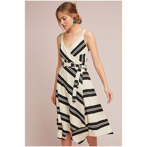 HP Anthropologie Rosaria Wrapped Dress Striped